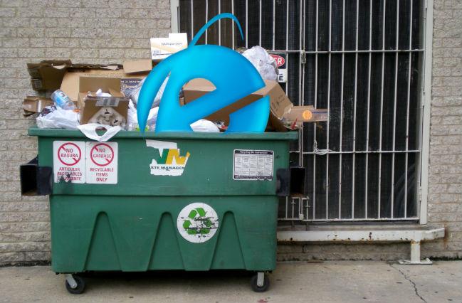 internet explorer dumpster