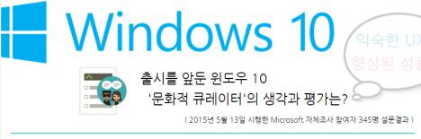 출시전 윈도우 10 고객인지도 및 호감도 조사
