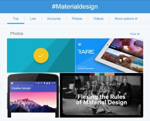 트위터의 #materialdesign